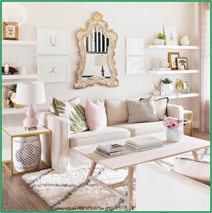 Wohnzimmer Deko Rosegold