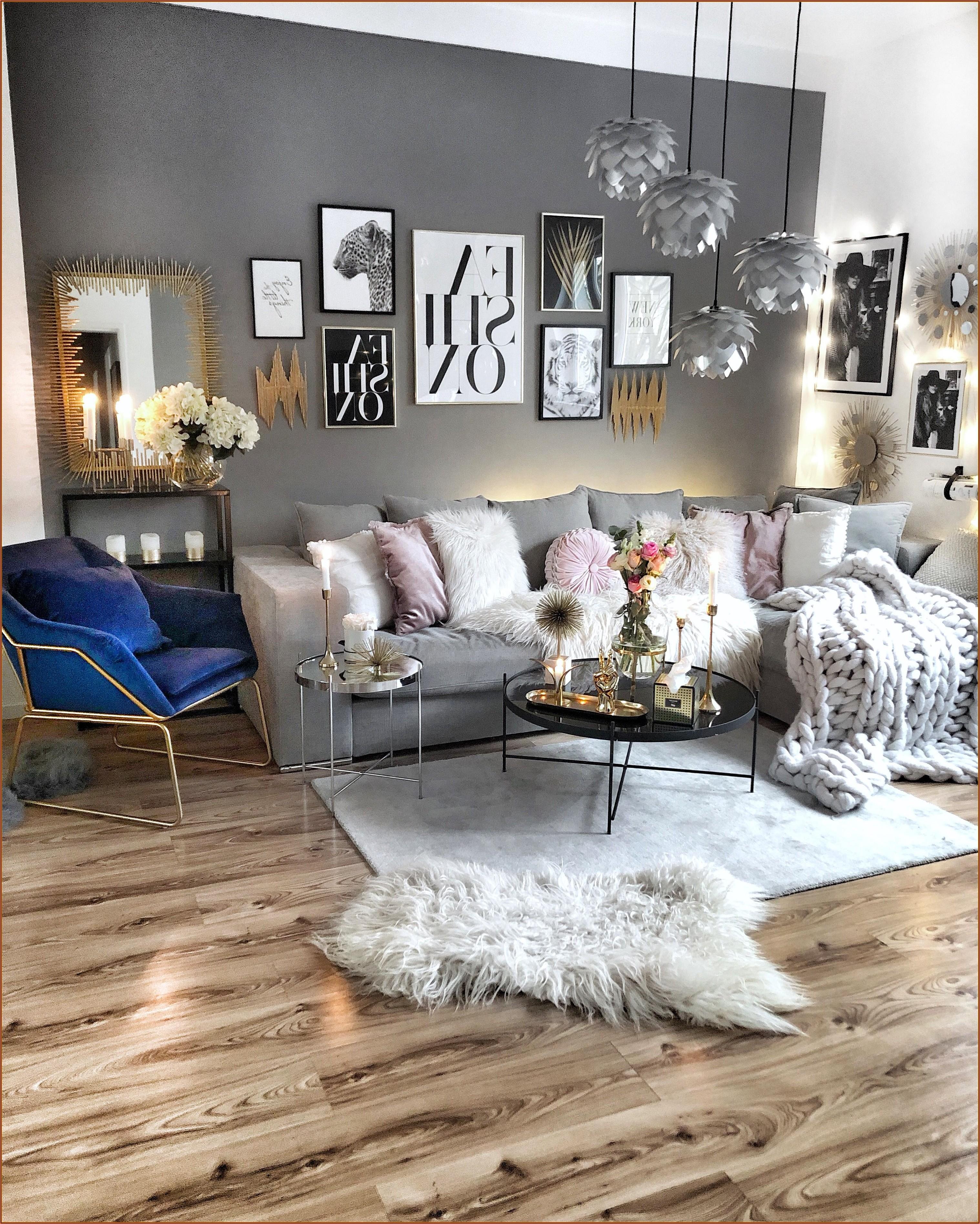 Wohnzimmer Dekoration Gold