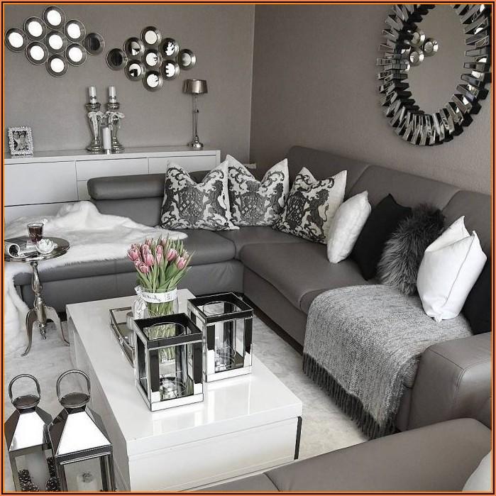 Wohnzimmer Dekoration Grau