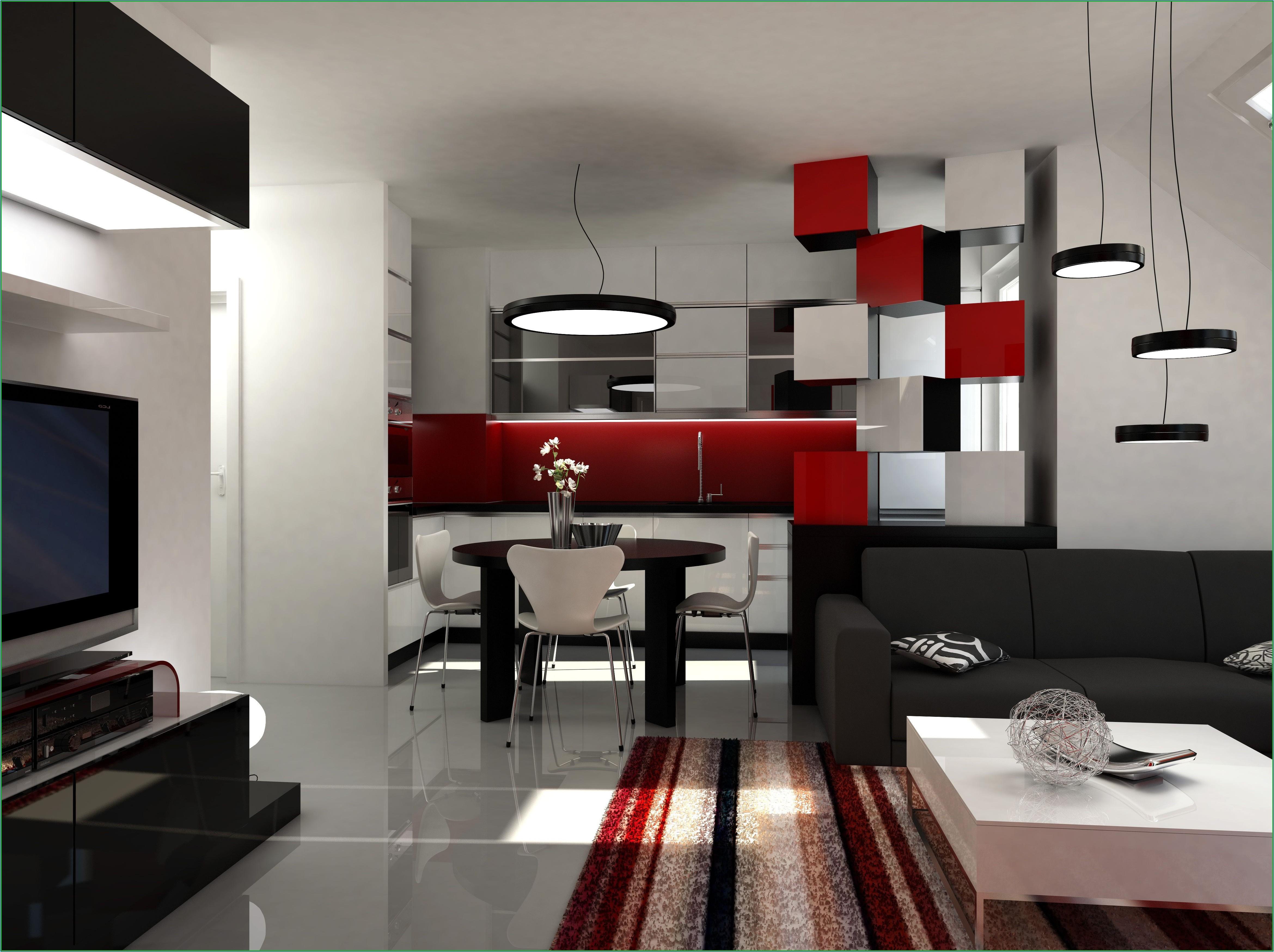 Wohnzimmer Dekoration Rot