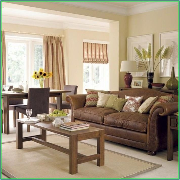 Wohnzimmer Dekorieren Braune Couch