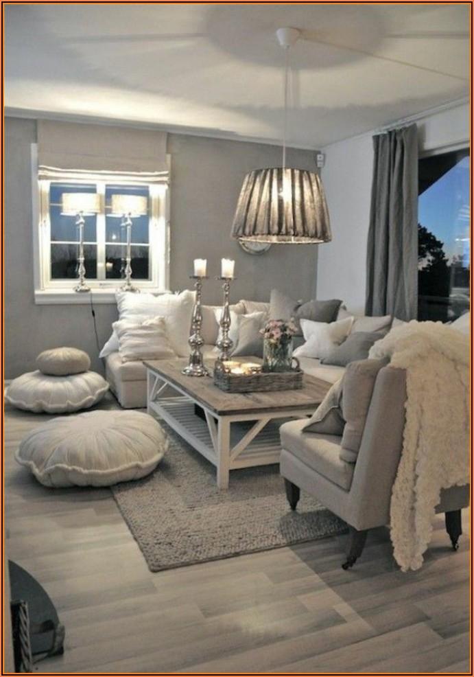 Wohnzimmer Dekorieren Grau Weiß