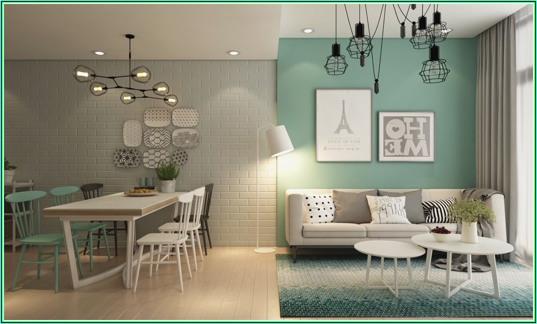 Wohnzimmer Grün Dekorieren