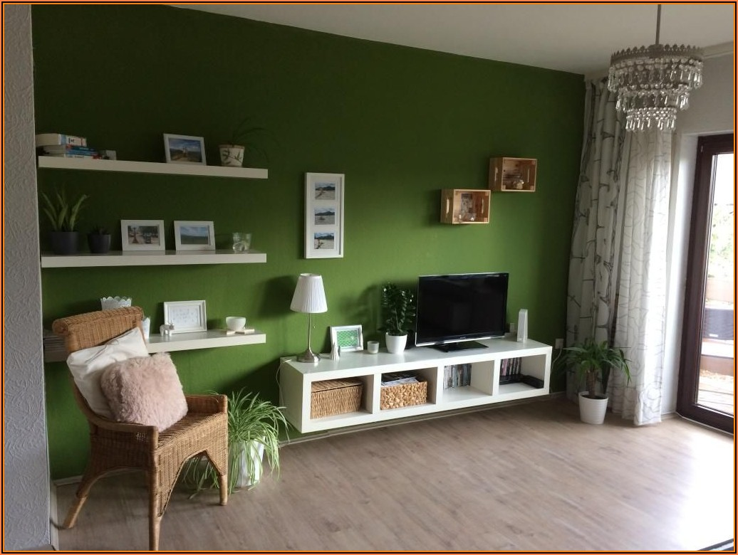 Wohnzimmer Grüne Deko