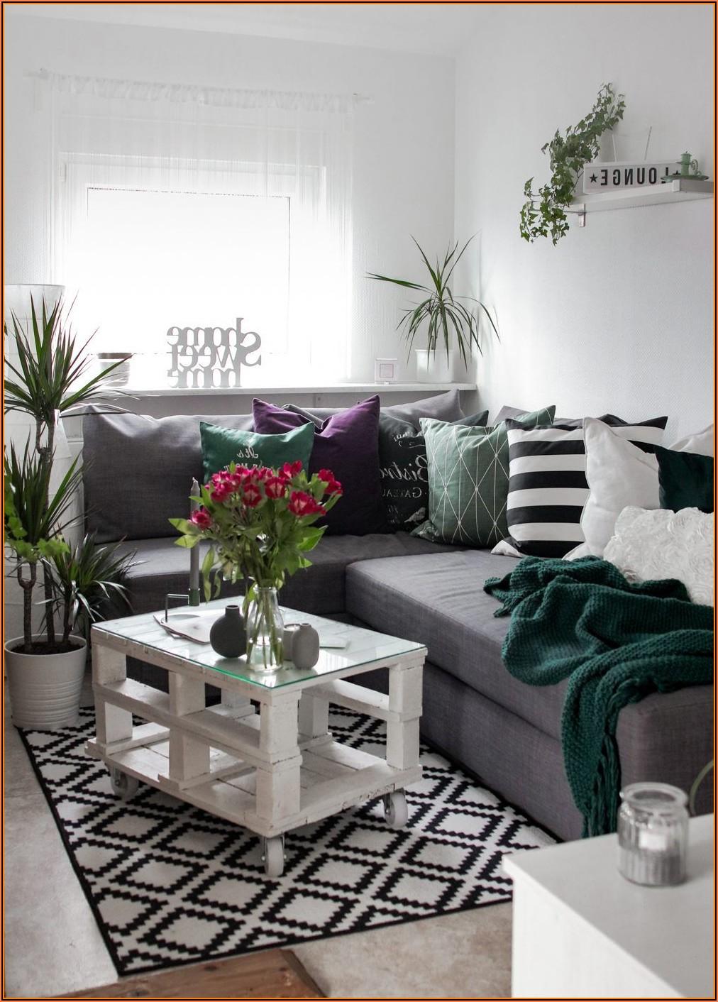 Wohnzimmer Grau Grün Deko