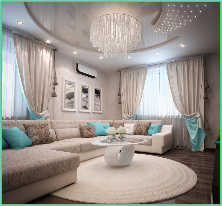 Wohnzimmer Deko Turkis