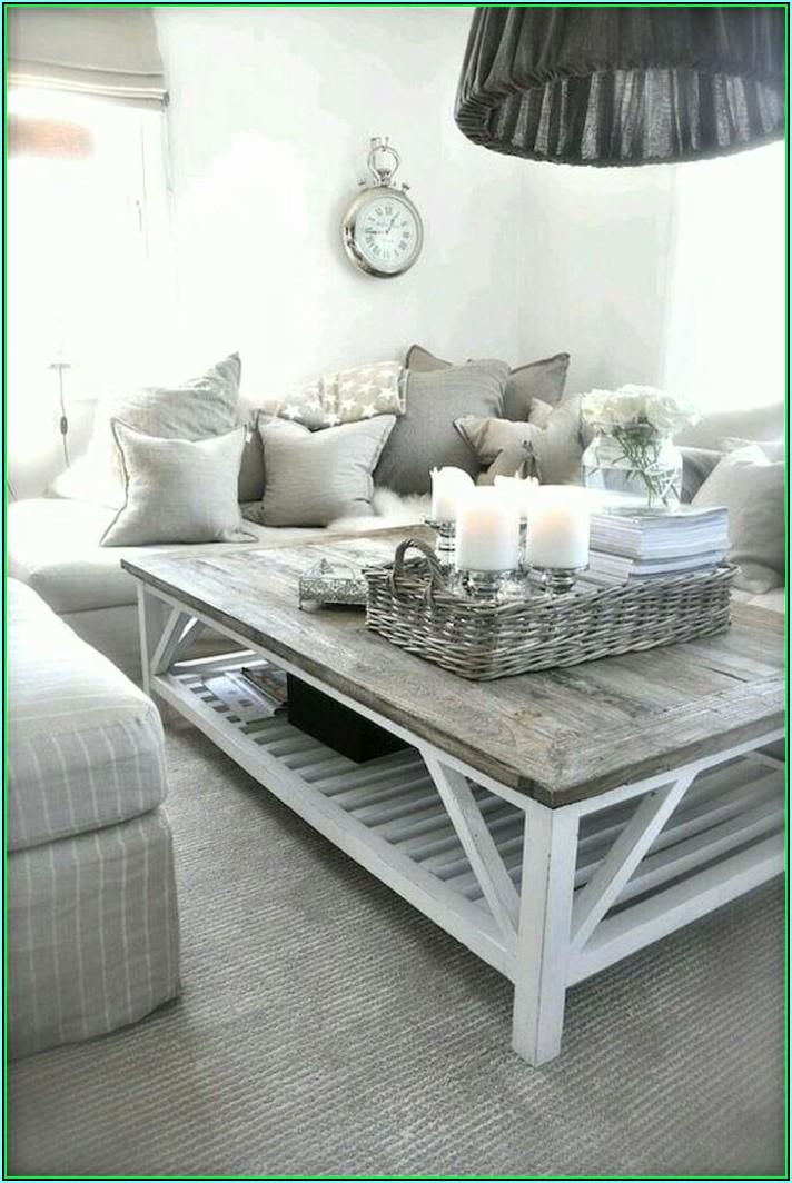Wohnzimmer Weiß Grau Deko
