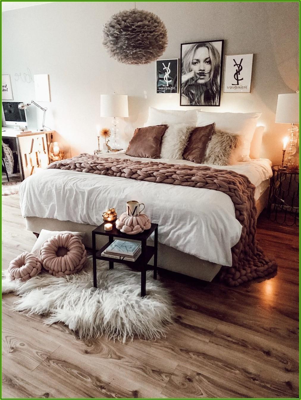 Altrosa Deko Schlafzimmer