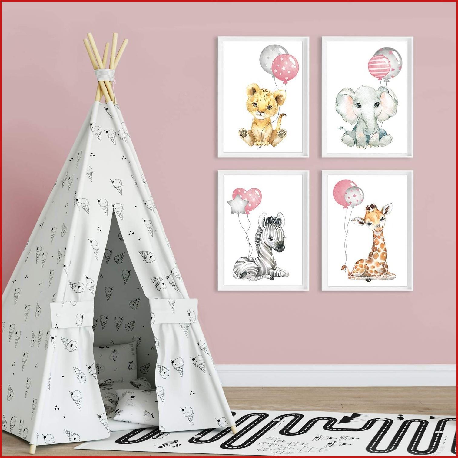 Bilder Kinderzimmer Rosa Grau