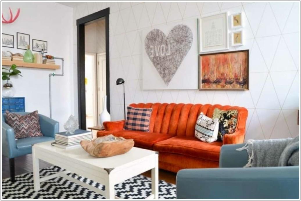 Deko Wohnzimmer Orange