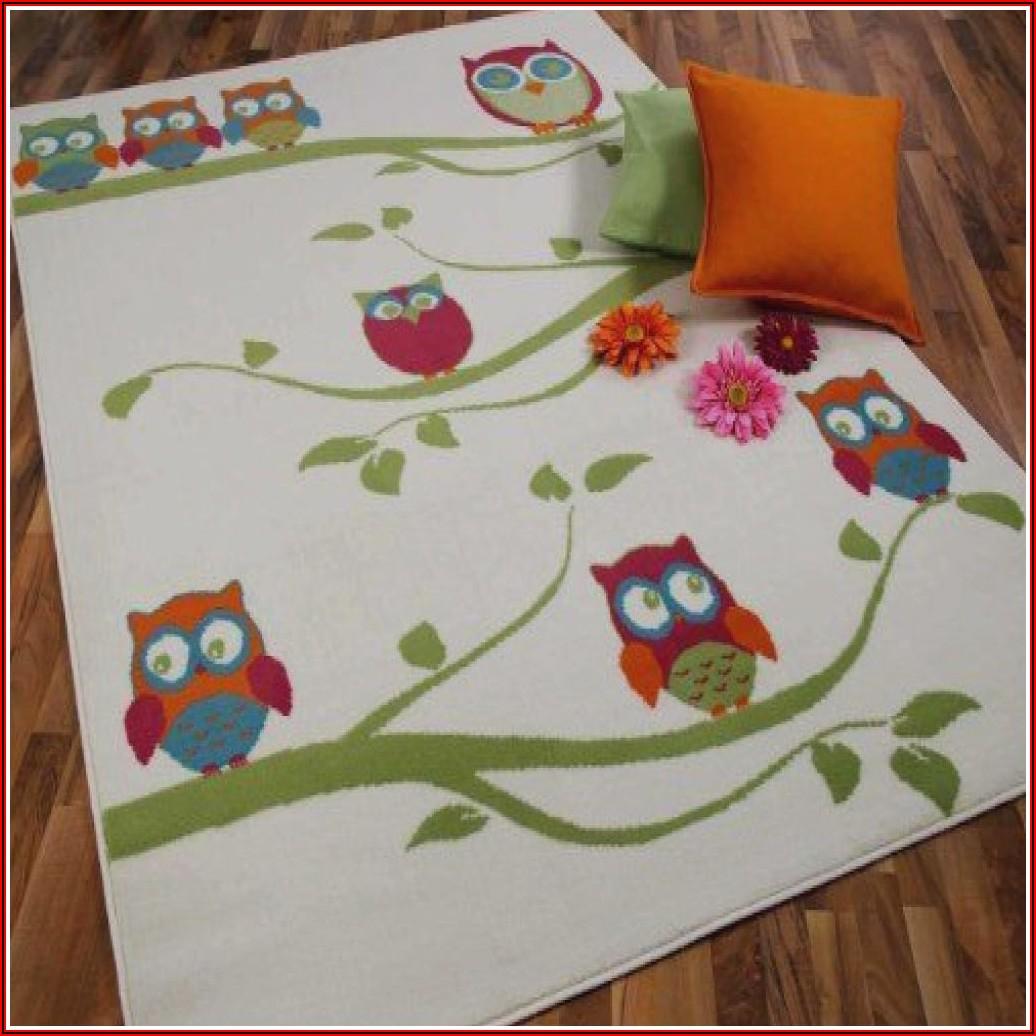 Eulen Teppich Kinderzimmer