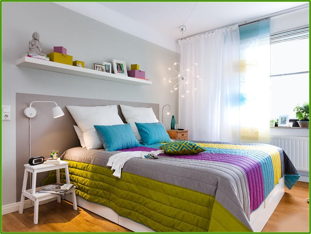Gardinen Dekorationsvorschläge Modern Schlafzimmer