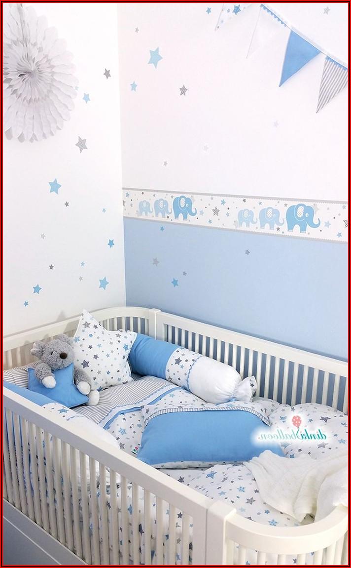 Grau Blau Babyzimmer