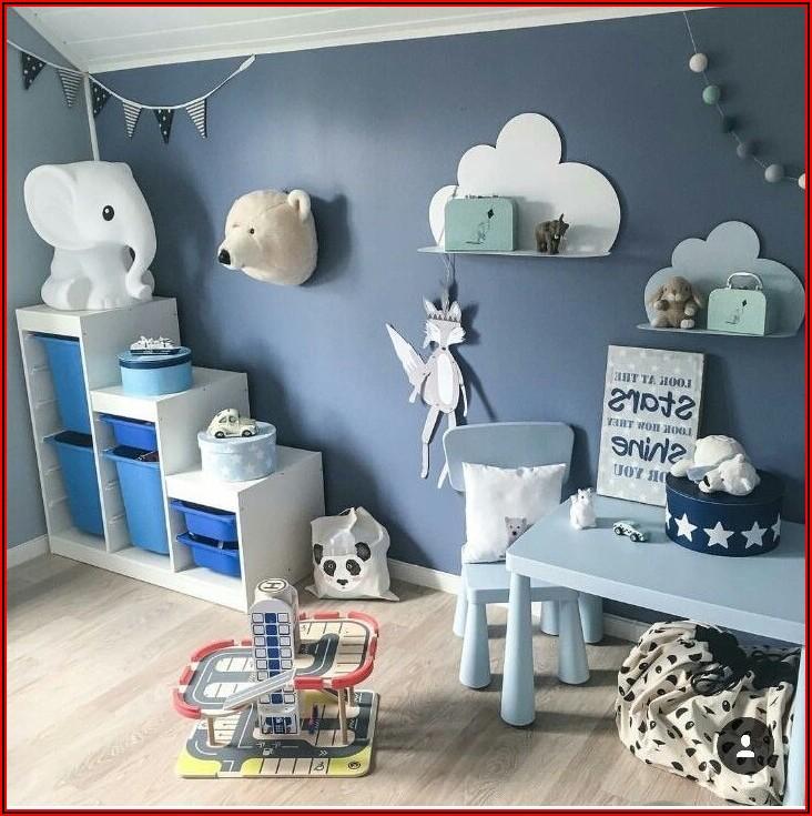 Grau Blau Kinderzimmer