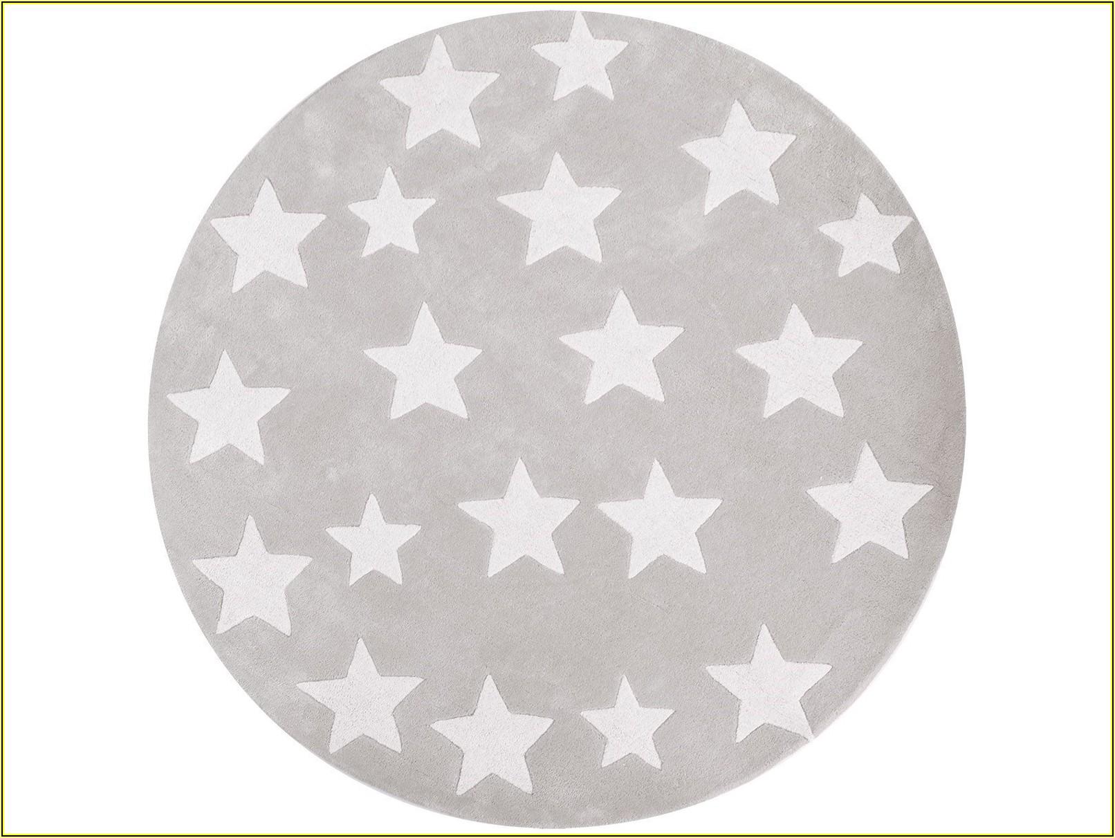 Kinderteppich Grau Sterne