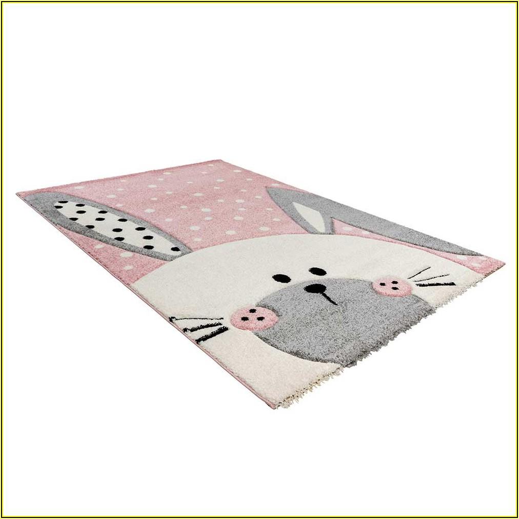 Kinderzimmer Teppich Grau Rosa