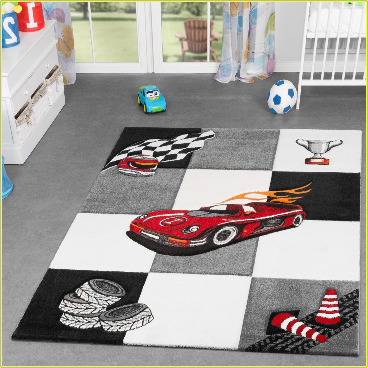 Kinderzimmer Teppich Junge Auto