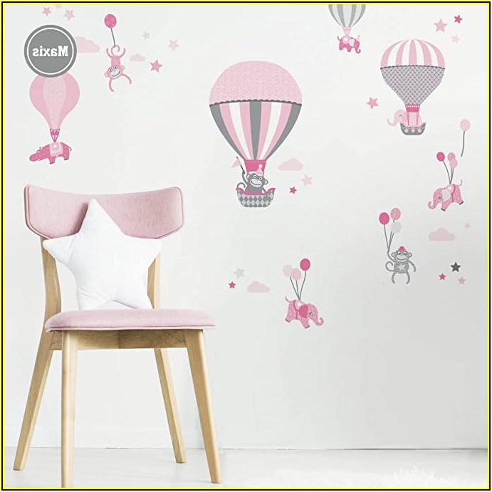 Kinderzimmer Wand Grau Rosa