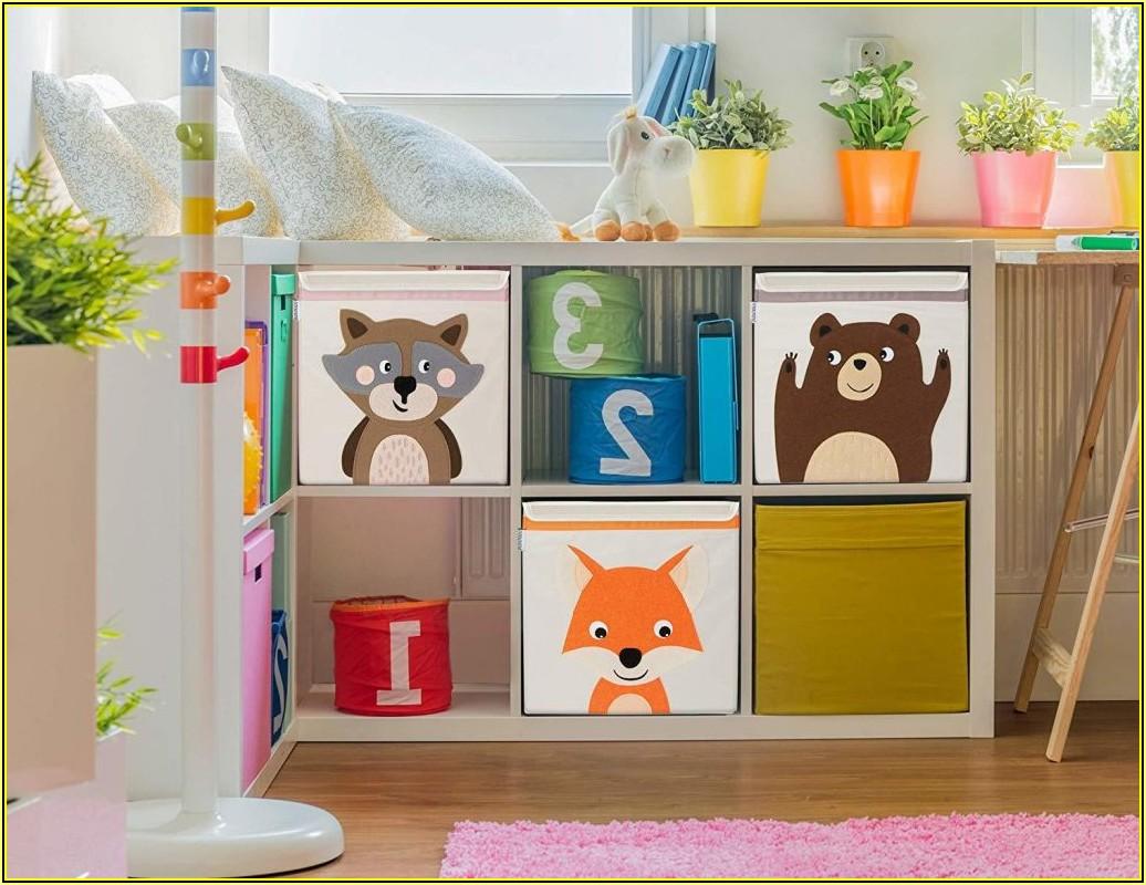 Regal Mit Aufbewahrungsboxen Für Kinderzimmer