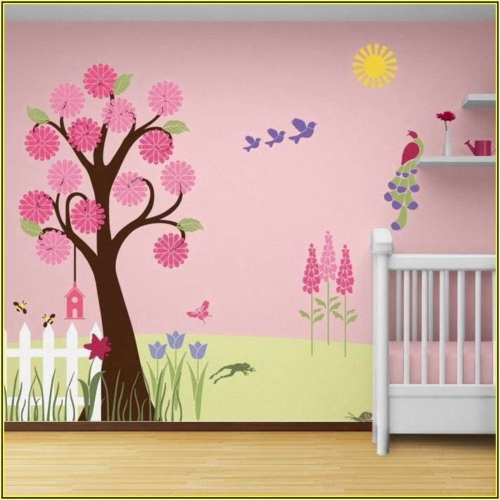 Schablone Wandbild Kinderzimmer