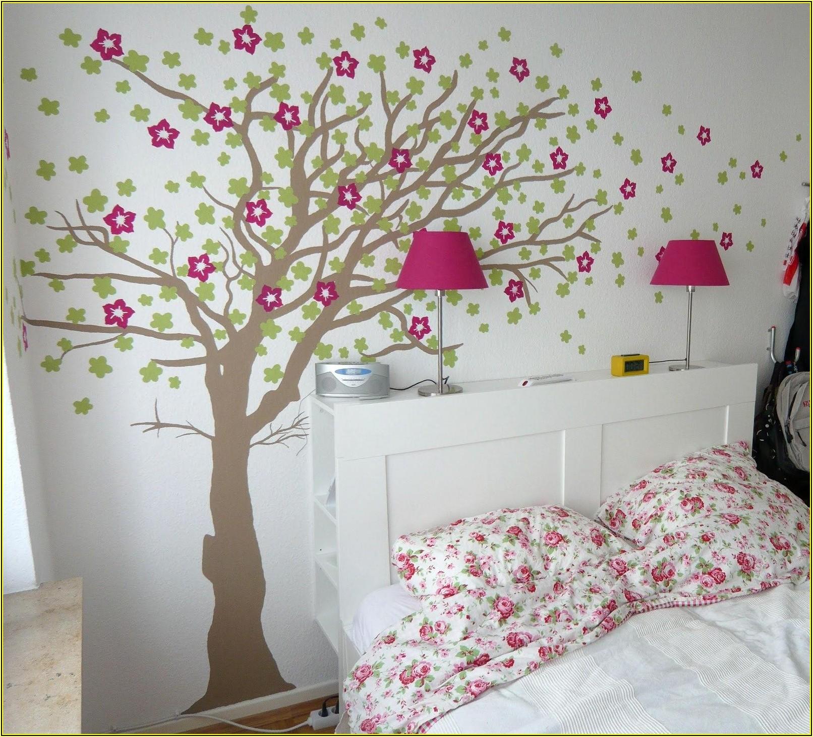 Schablonen Kinderzimmer Wandgestaltung