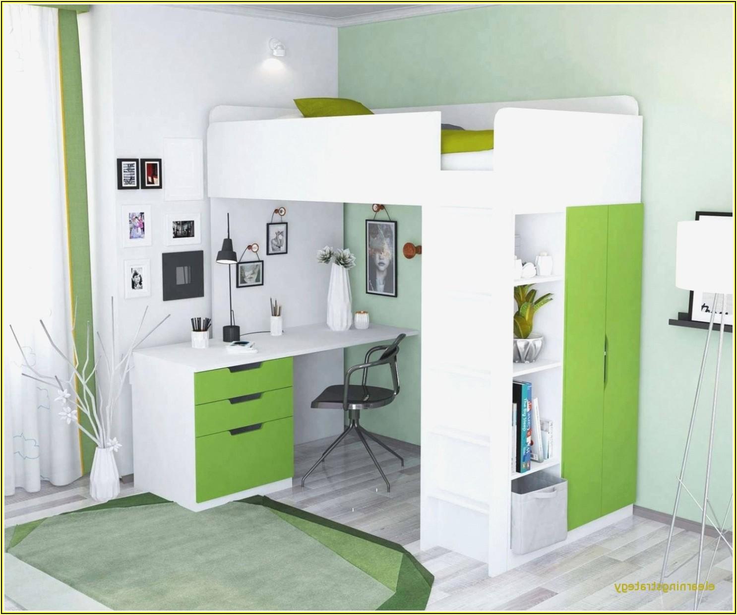 Schlaf Und Kinderzimmer In Einem Raum