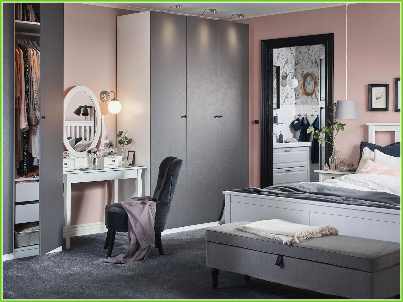 Schlafzimmer Deko Grau Rosa