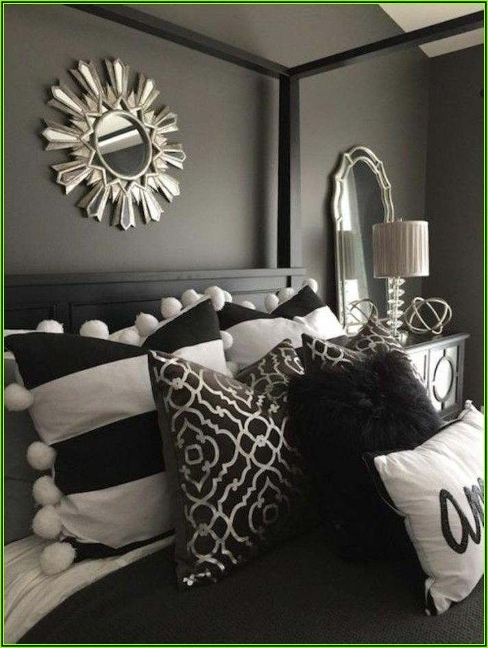 Schlafzimmer Deko Grau Weiß