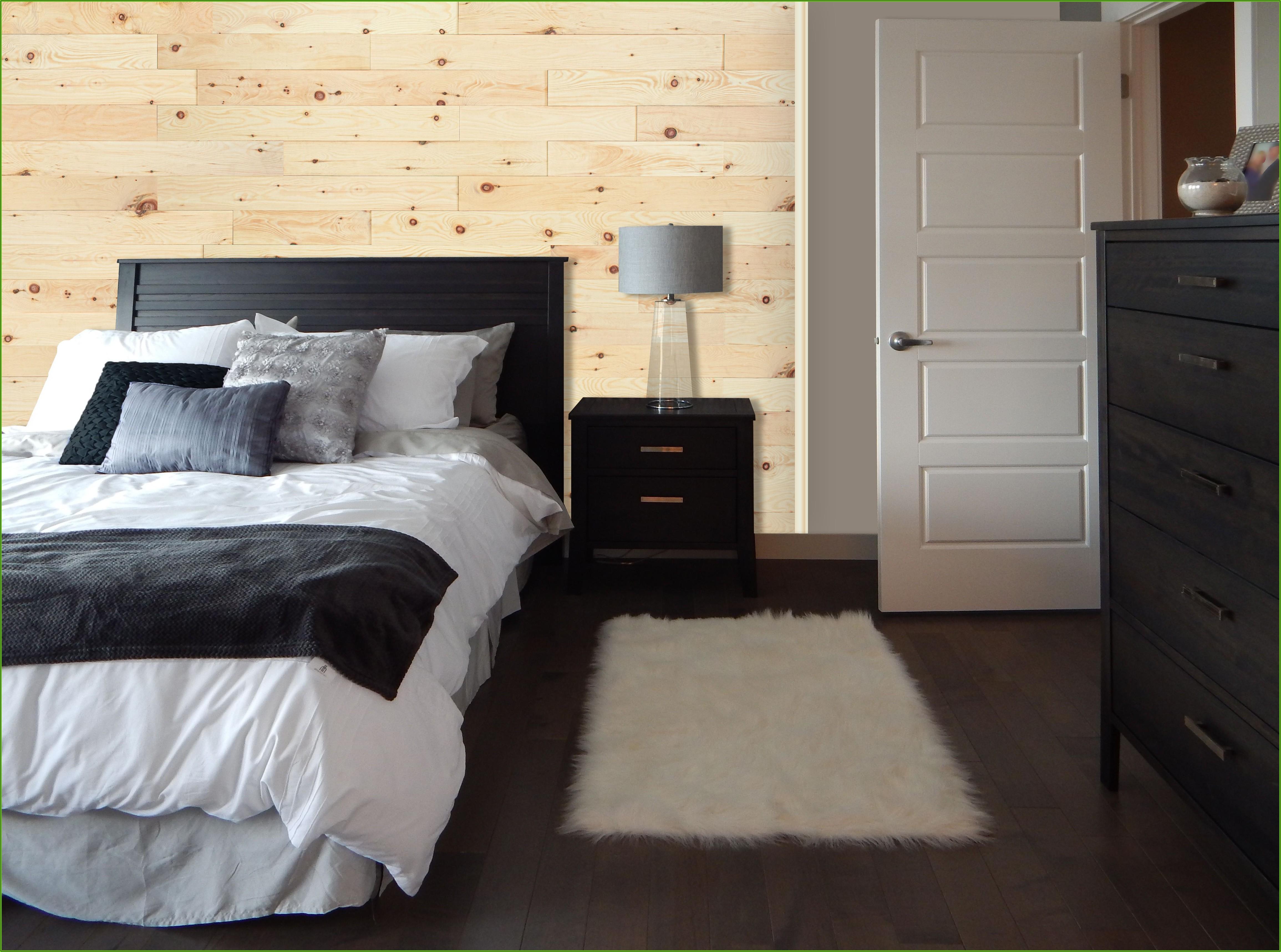 Schlafzimmer Deko Holzwand
