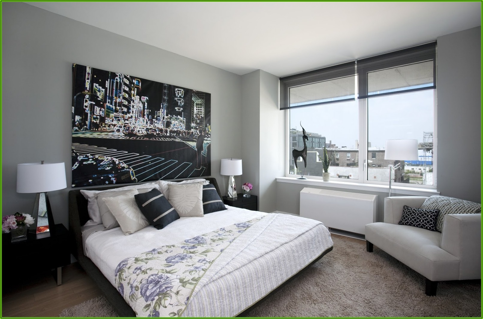 Schlafzimmer Deko Ideen Grau