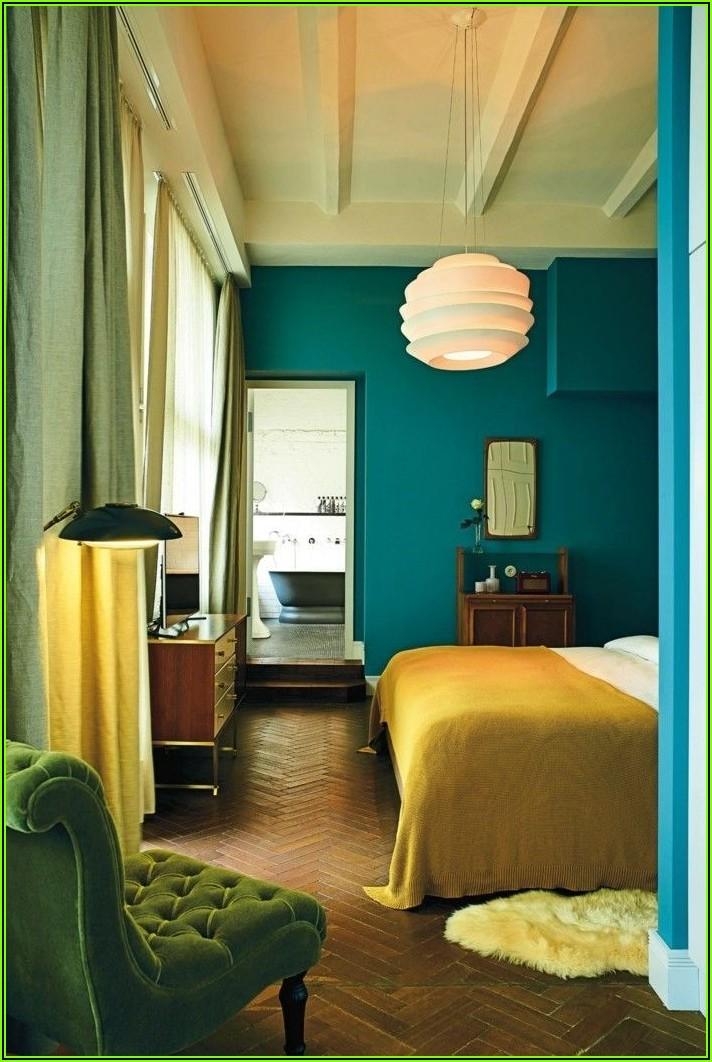 Schlafzimmer Deko Petrol