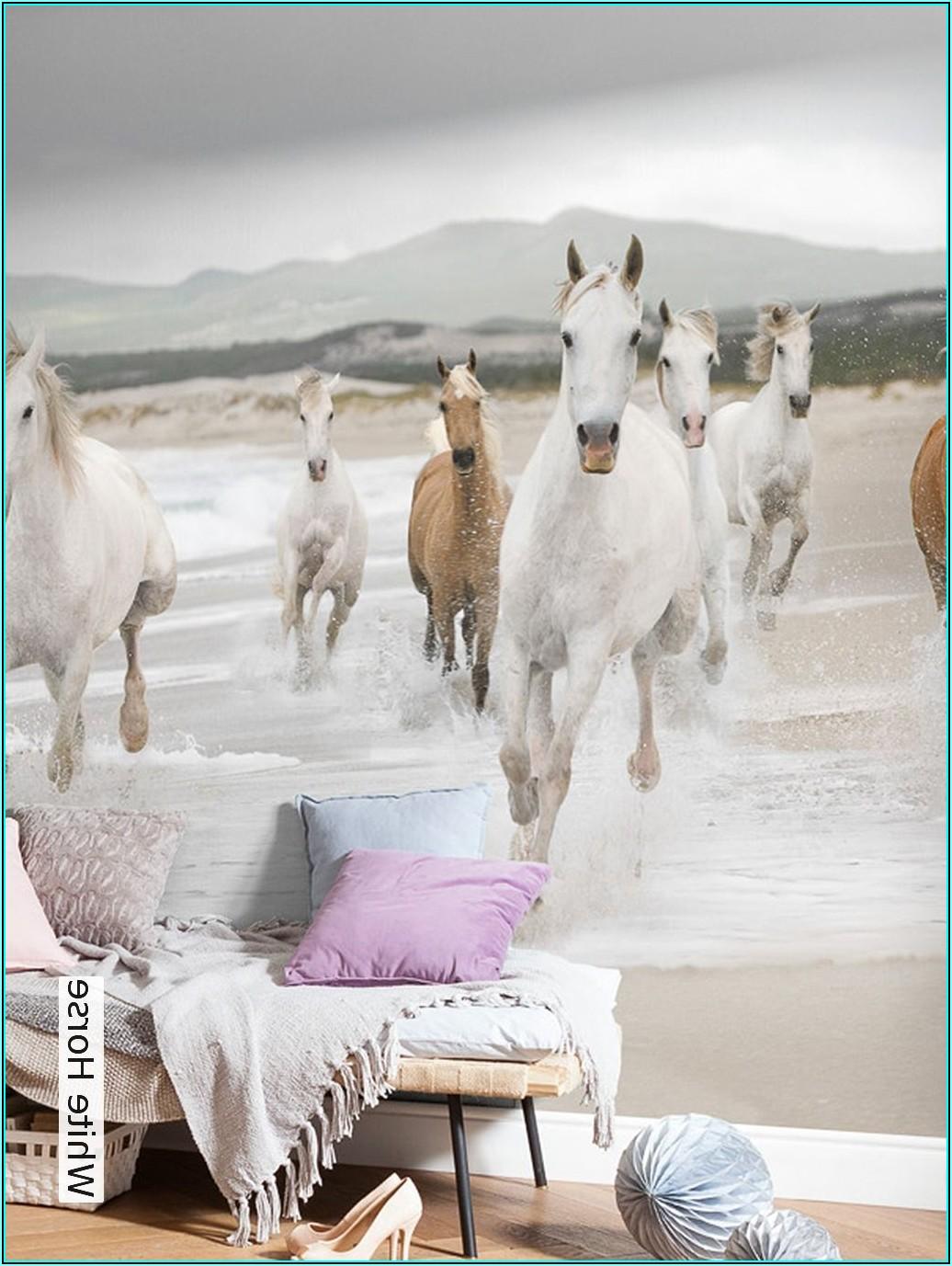Tapete Kinderzimmer Mädchen Pferde