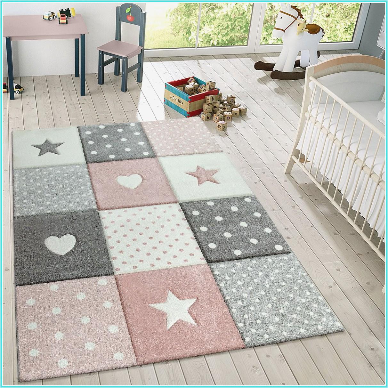 Teppich Kinderzimmer Mädchen Grau