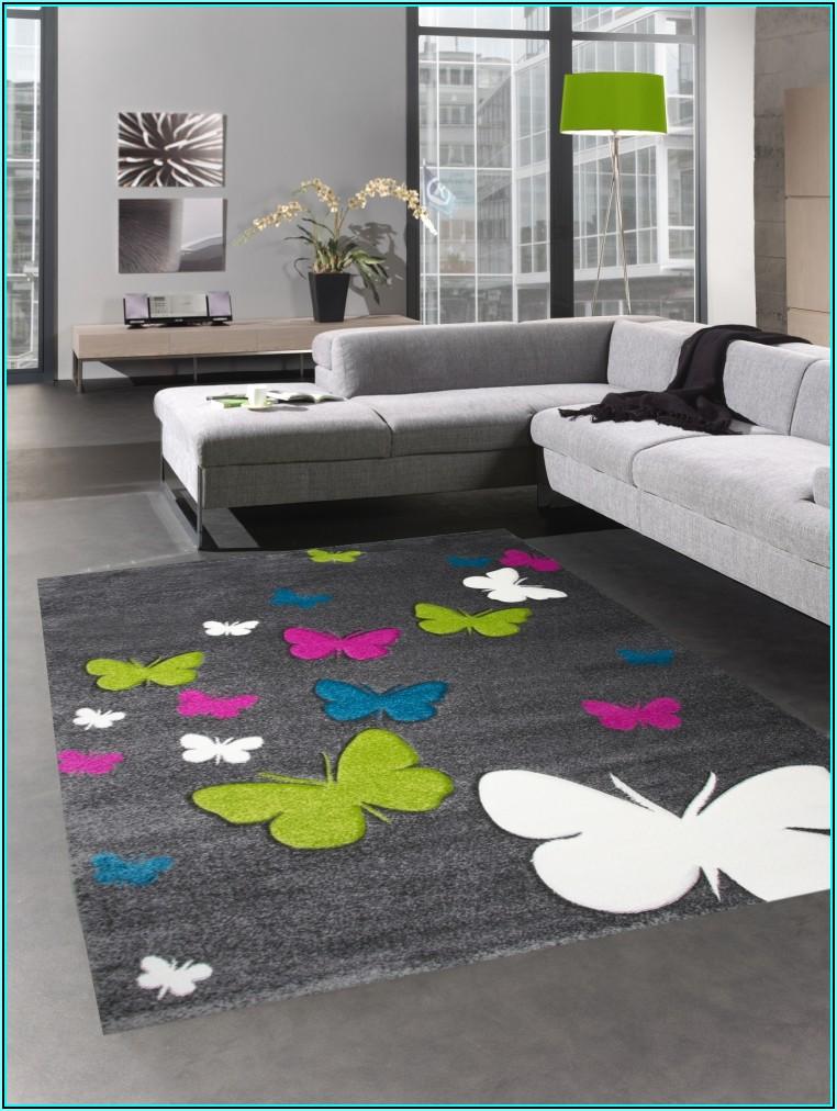 Teppich Kinderzimmer Mädchen Schmetterling