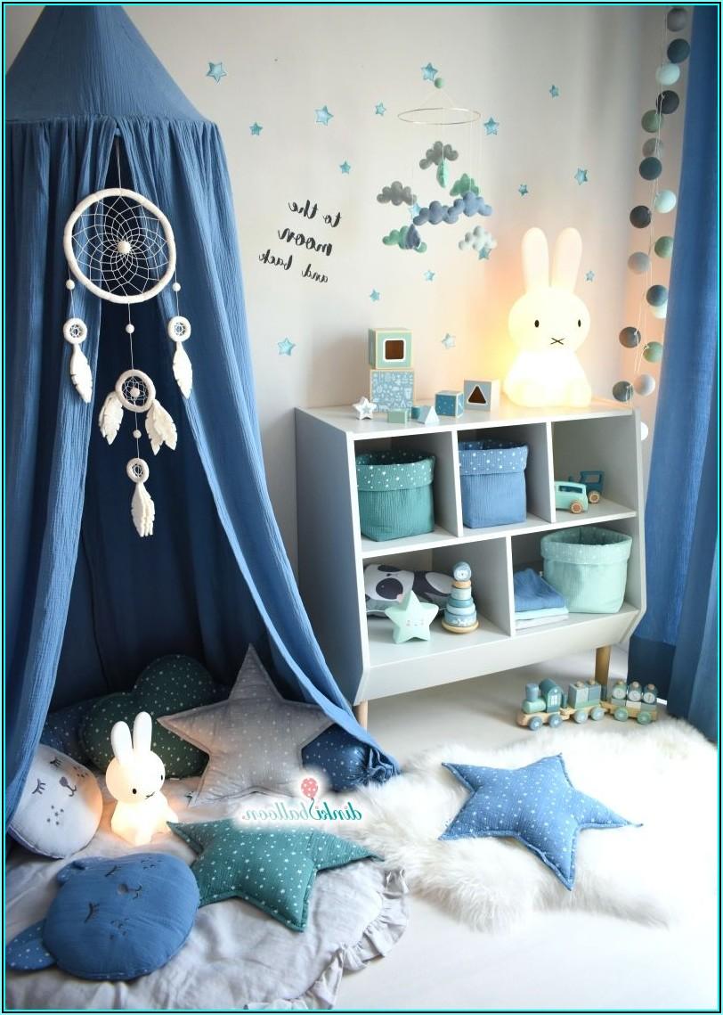 Vorhänge Kinderzimmer Junge Blau