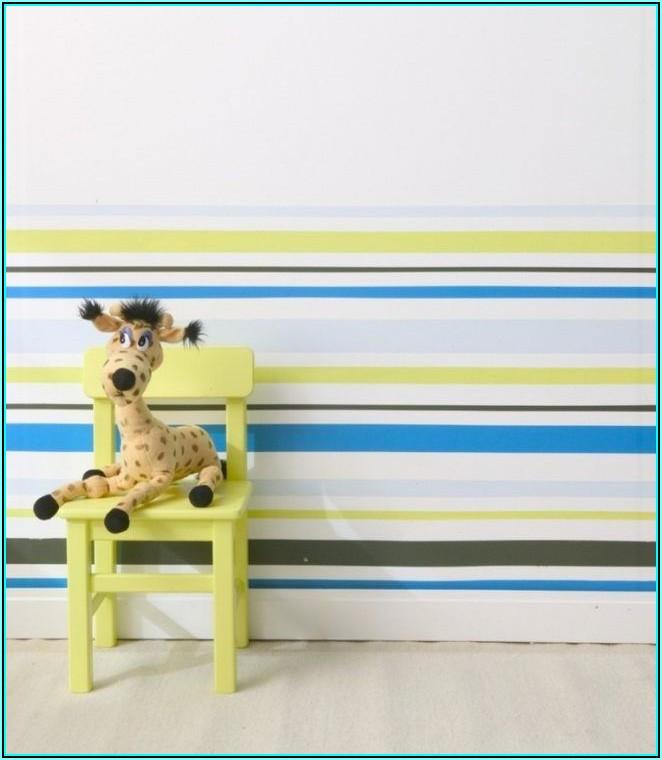 Wand Streichen Streifen Kinderzimmer