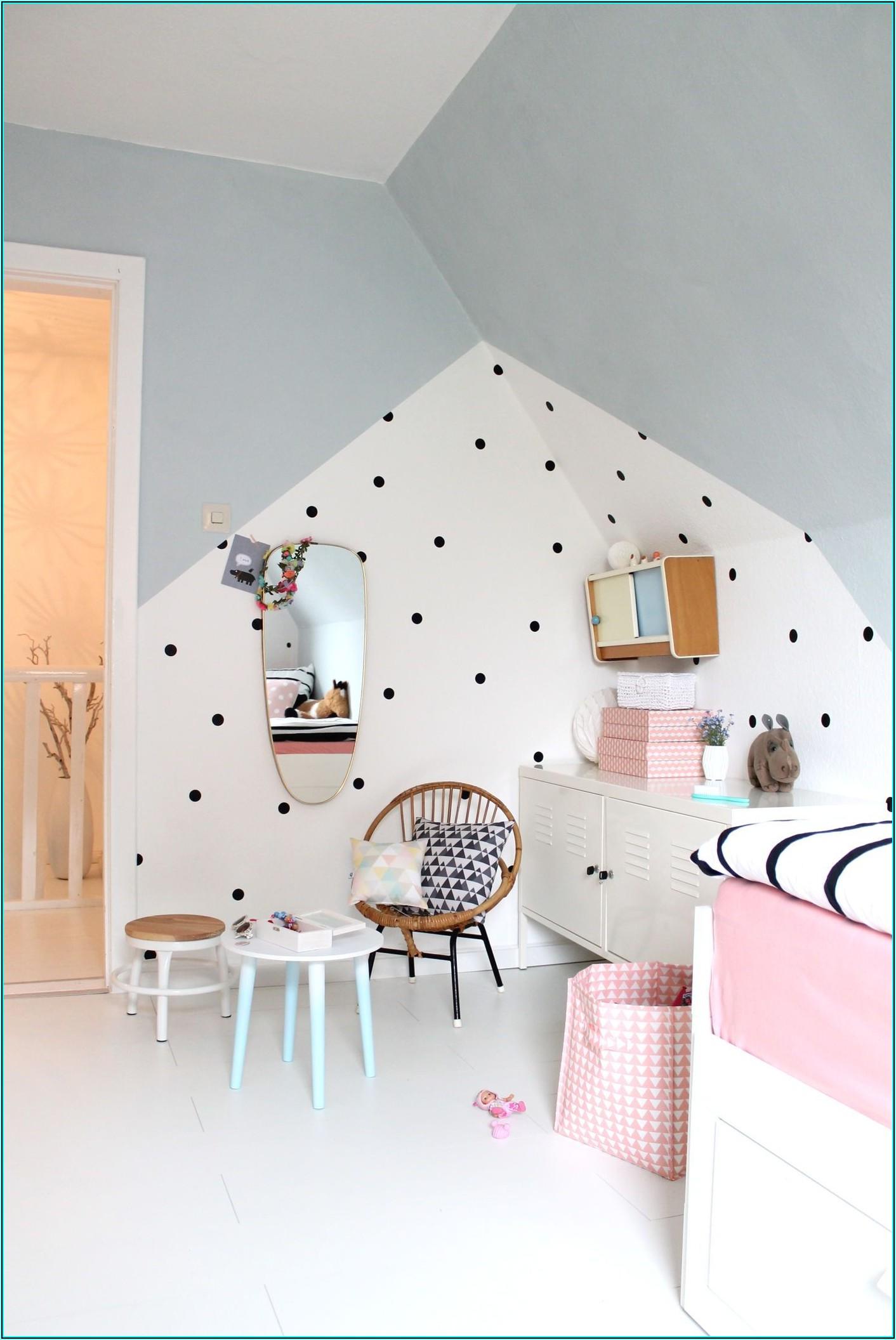 Wandgestaltung Farbe Kinderzimmer Mädchen