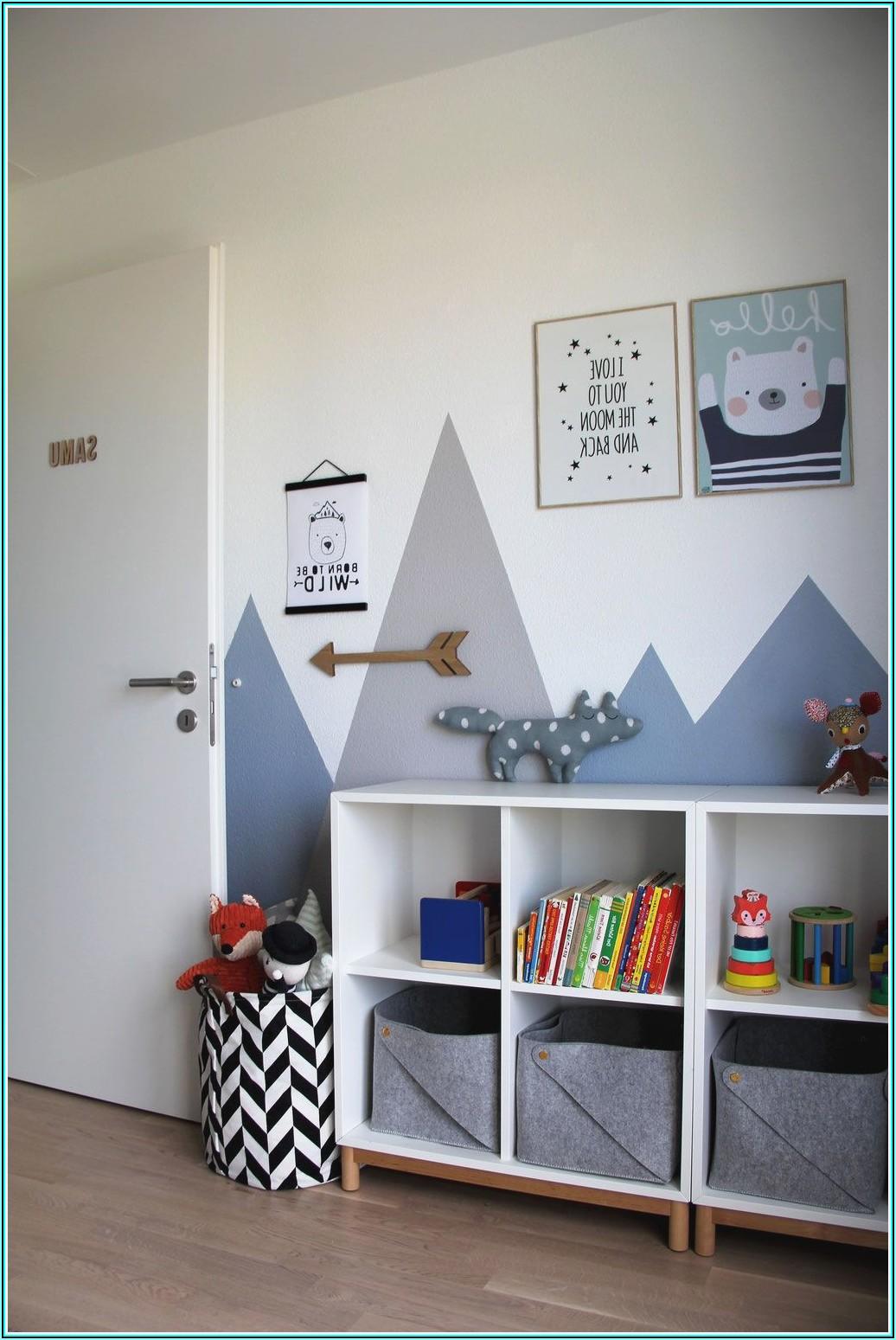 Wandgestaltung Kinderzimmer Grau Blau