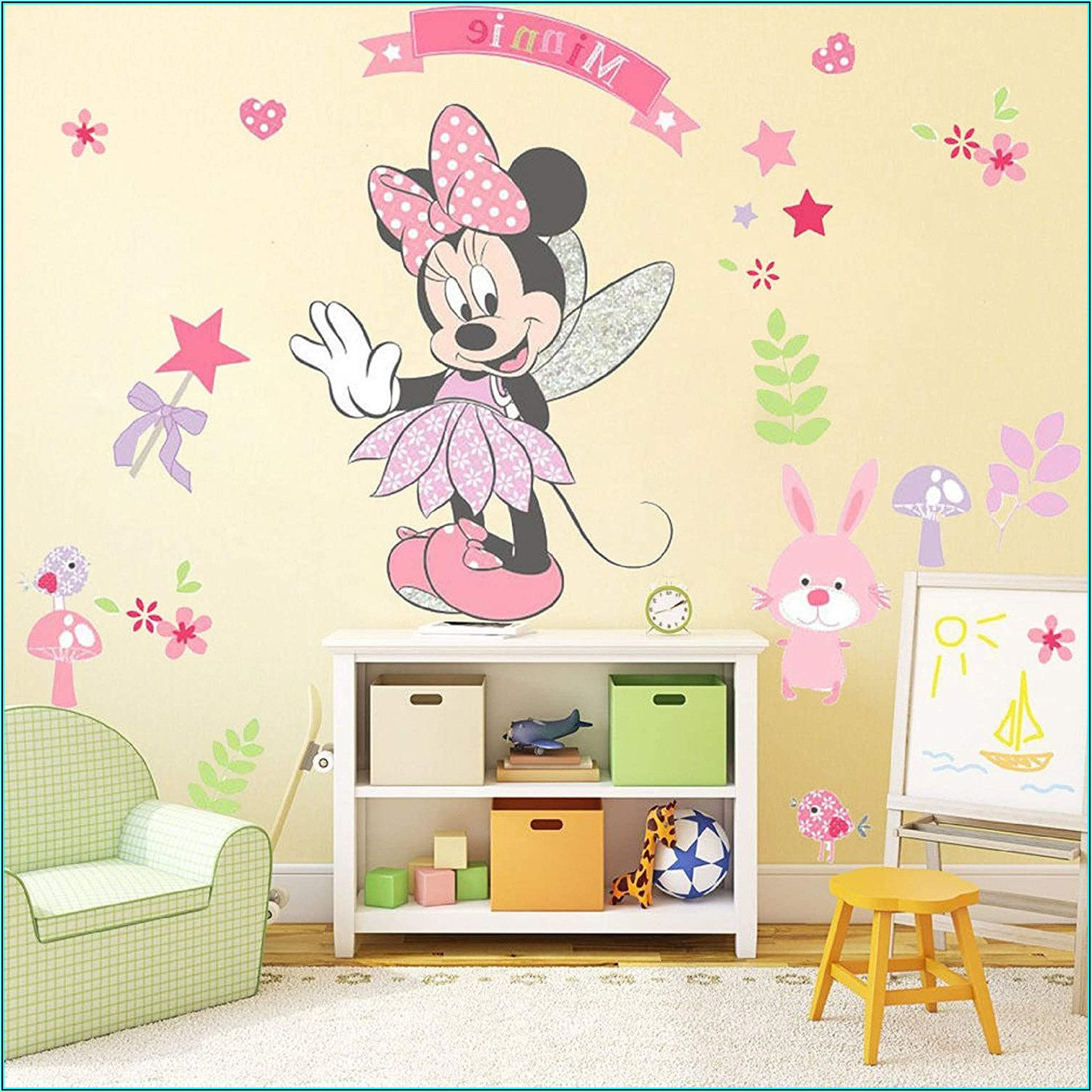 Wandtattoo Kinderzimmer Minnie Maus