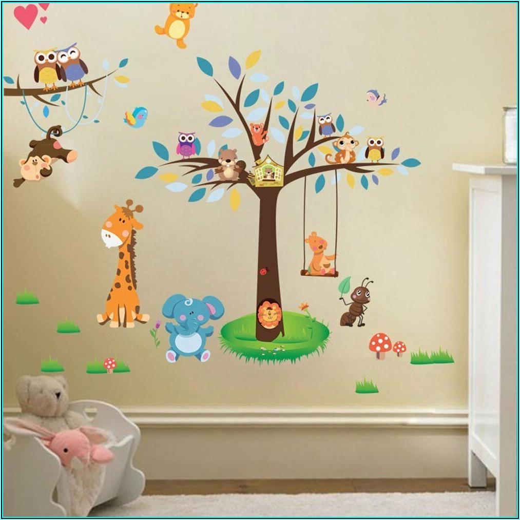 Wandtattoo Kinderzimmer Tiere Dschungel