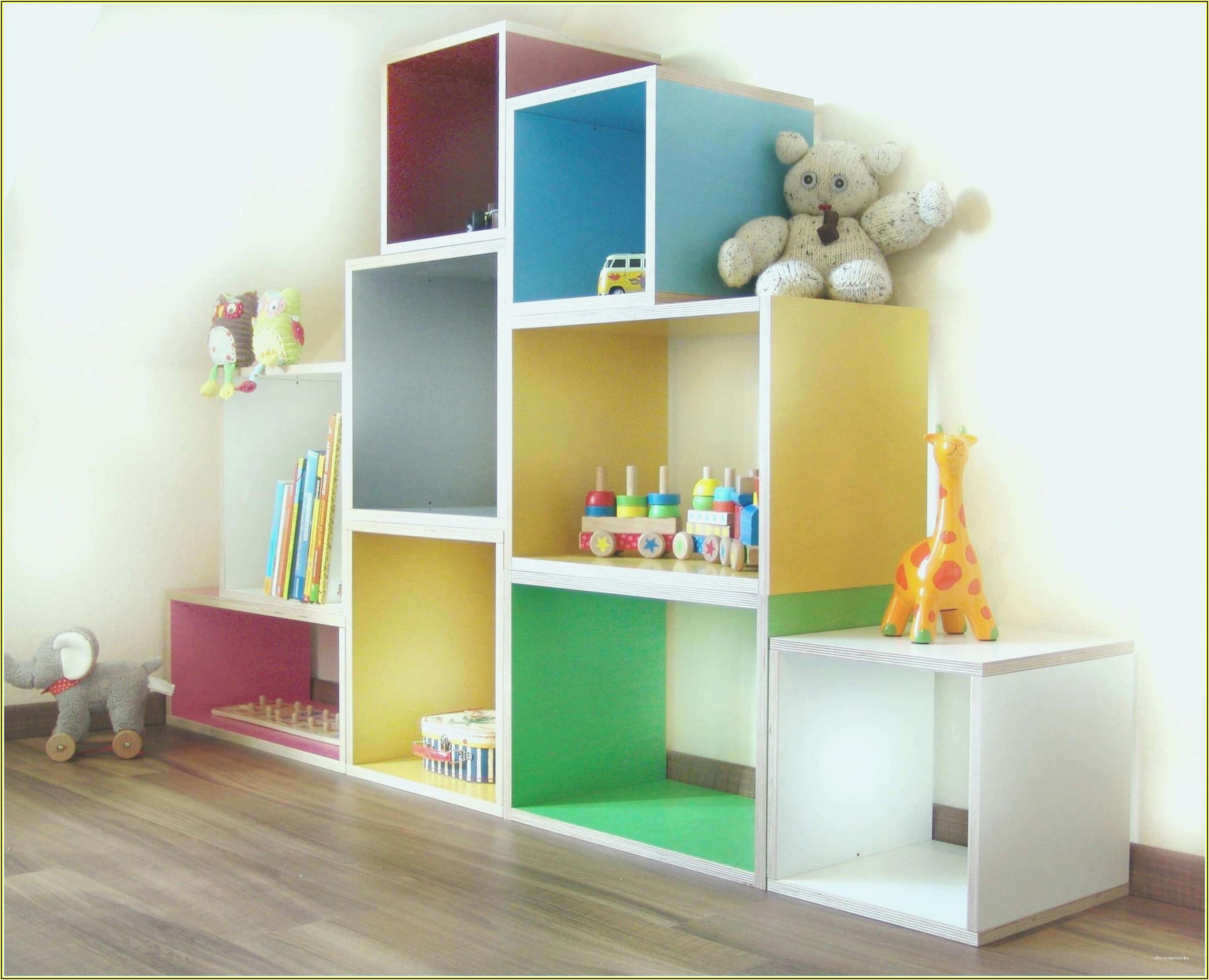 Aufbewahrungsregal Mit Boxen Kinderzimmer