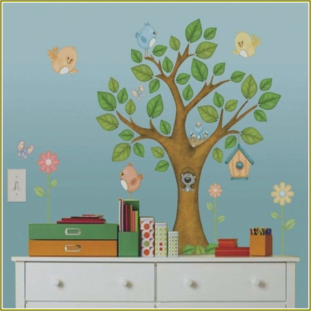 Baum Wand Kinderzimmer Holz