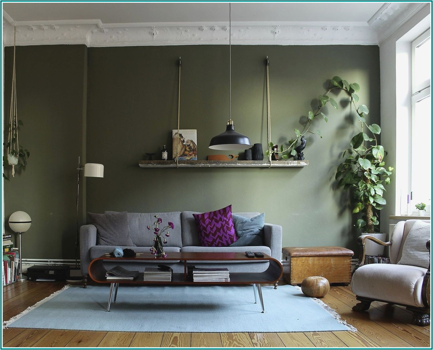 Bilder Wohnzimmer Grün Braun