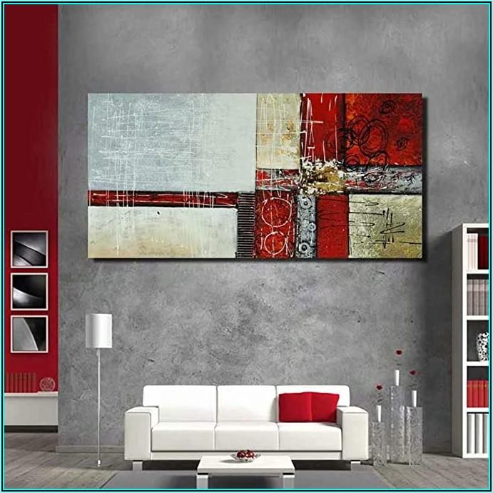 Bilder Wohnzimmer Rot Grau