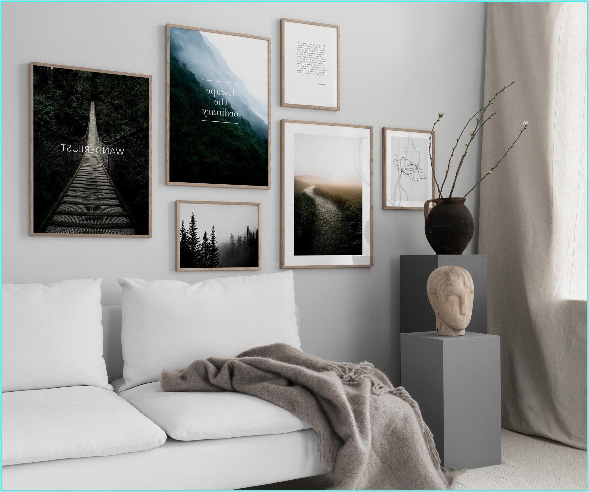 Bilderwand Wohnzimmer Gestalten