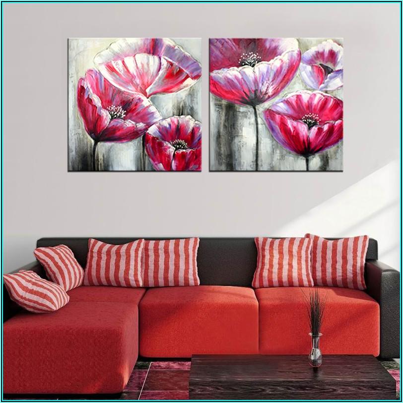 Moderne Bilder Wohnzimmer Blumen