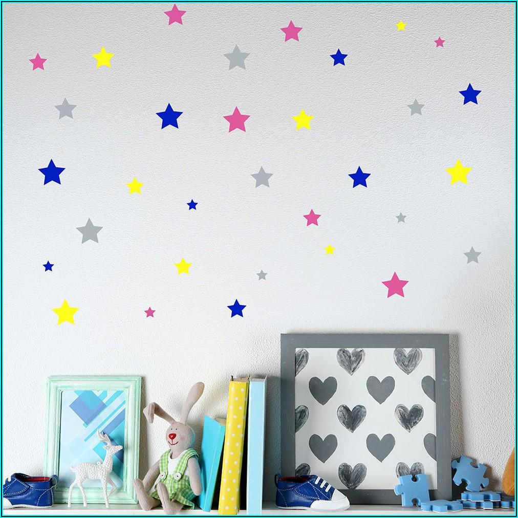 Sterne Wand Kinderzimmer