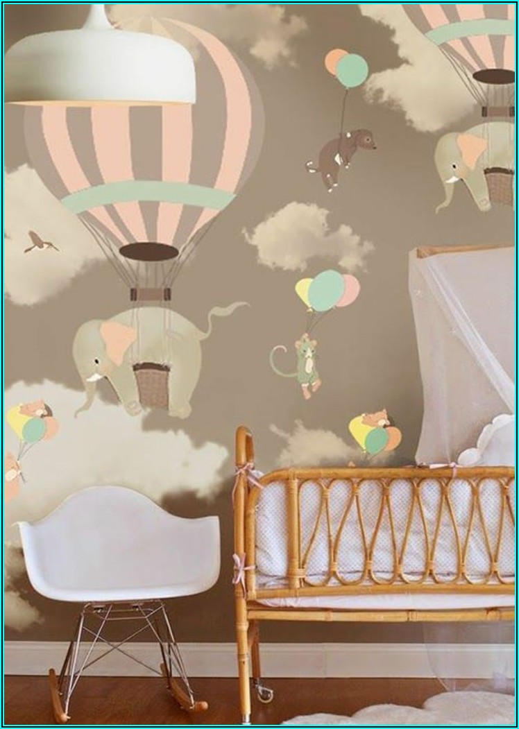 Tapete Babyzimmer Heißluftballon