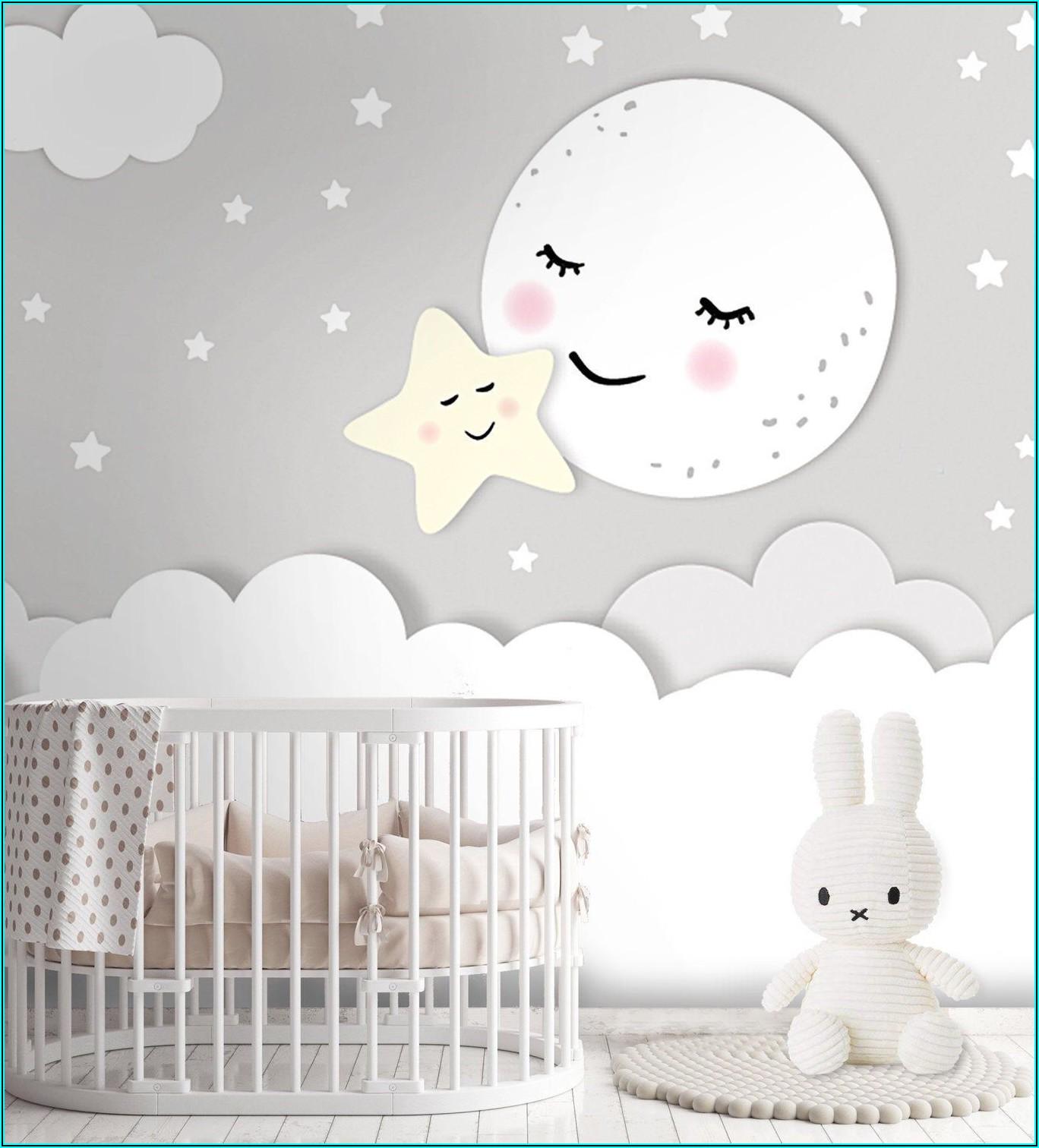 Tapete Babyzimmer Sterne