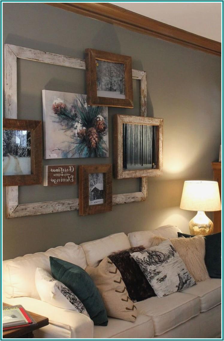 Wandgestaltung Wohnzimmer Bilderrahmen